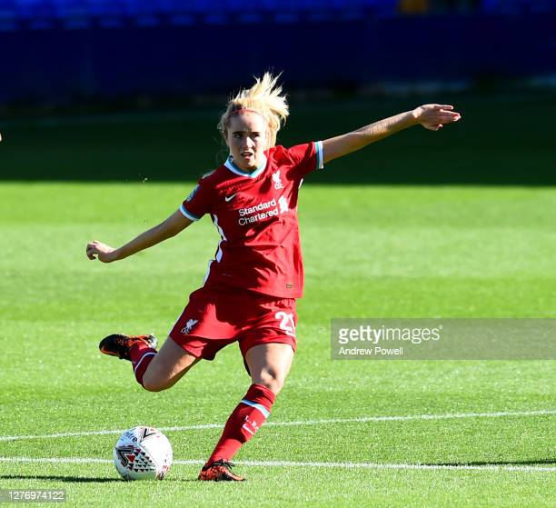 Missy Bo Kearns of Liverpool Women during the FA Women's Championship match between Liverpool Women and Charlton Athletic Women at Prenton Park on...