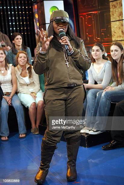 "Missy Elliot during Mandy Moore and Missy Elliott Visit MTV's ""TRL"" - April 19, 2006 at MTV Studios in New York City, New York, United States."