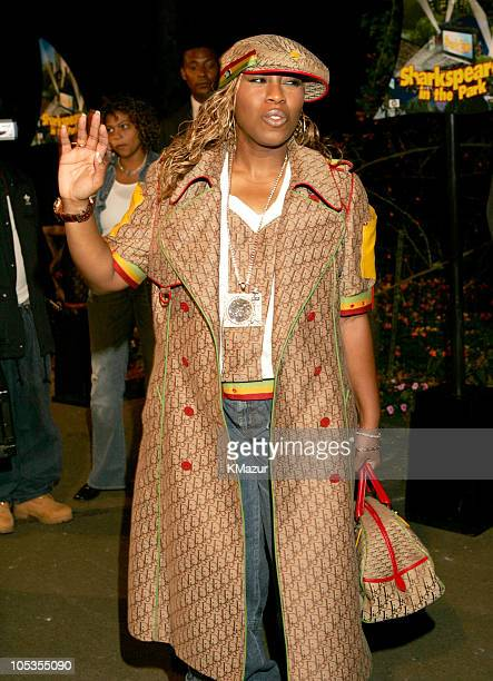 Missy Elliot during 'Shark Tale' New York Premiere Arrivals at Delacorte Theatre Central Park in New York City New York United States