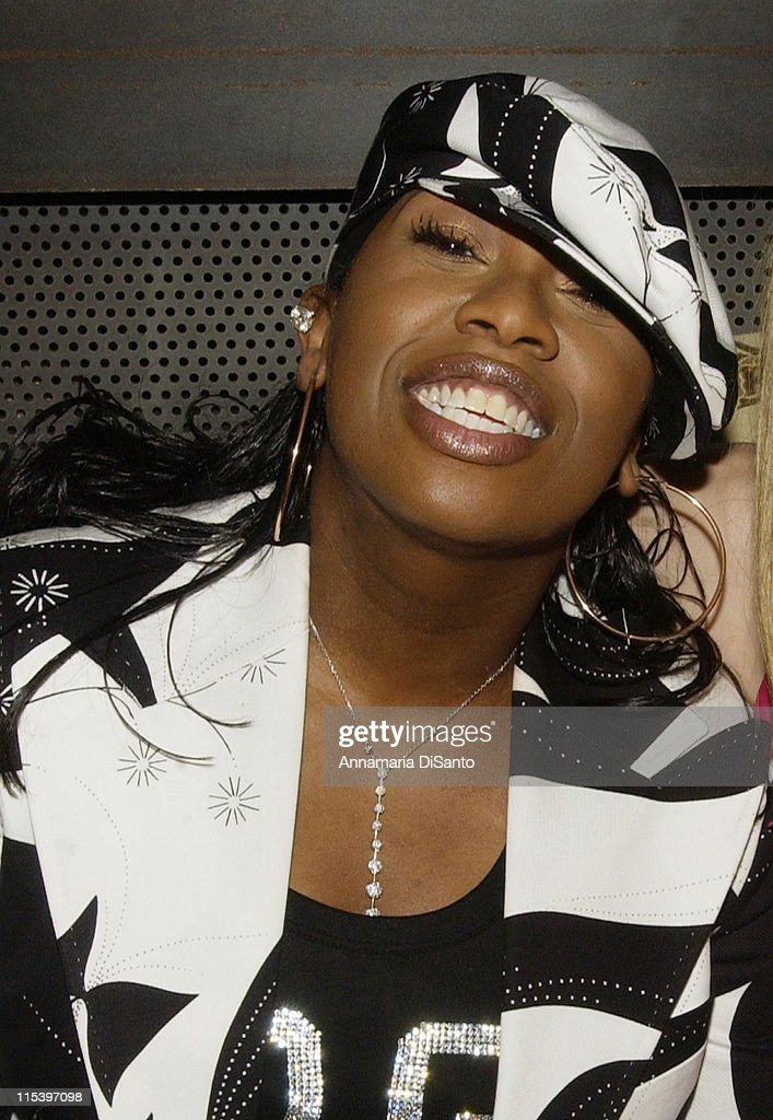 Missy Elliot during Warner Entertainment 2004 Grammy Party at Kitano Japanese Restaurant in Los Angeles, CA, United States.