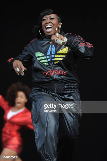 Missy Elliot performs live on the Main Stage during Day 2 of the Wireless Festival in Hyde Park on July 3 2010 in London England