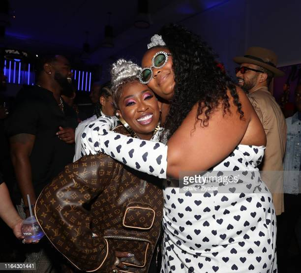 Missy Elliott and Lizzo attend MTV VMAs Pepsi Monami Entertainment celebrate the Video Vanguard Award honoree Missy Elliott at her afterparty...