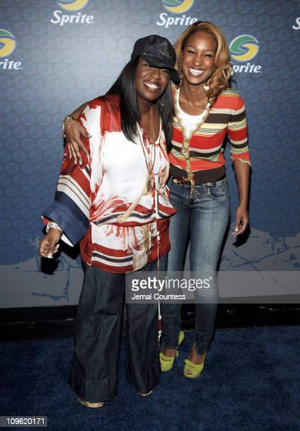 Missy Elliott and Olivia during Sprite Street Couture Showcase - Arrivals and Afterparty at Guastavino's in New York City, New York, United States.