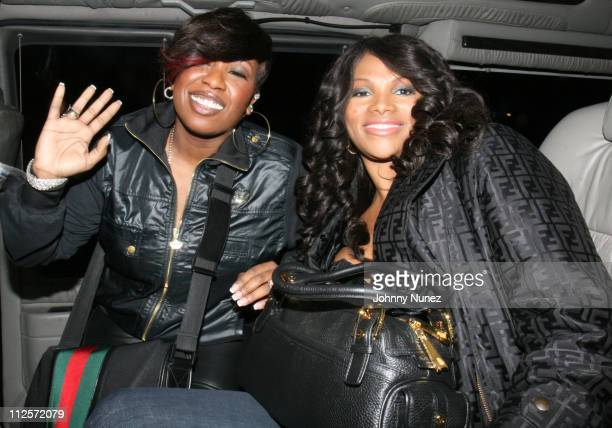 Missy Elliott and Pepa attends 1st Annual Angie Martinez Hair Show Beauty Expo Inside on November 24 2007 in New York City