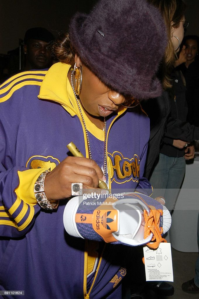 Missy Elliott attends Adidas presents benefit auction and