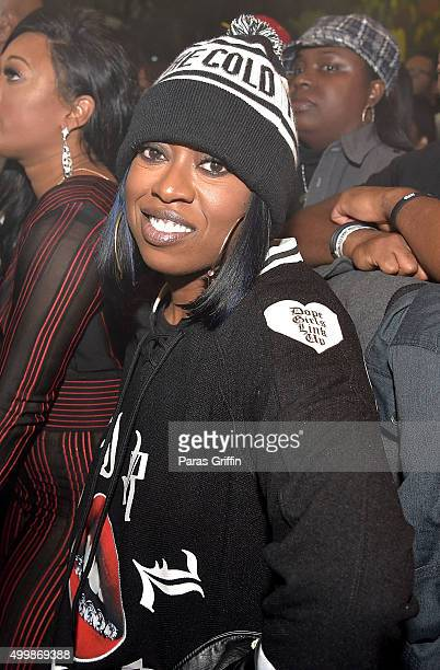 Missy Elliott attends 'The Code Red Experience' Tour at Center Stage on December 3 2015 in Atlanta Georgia