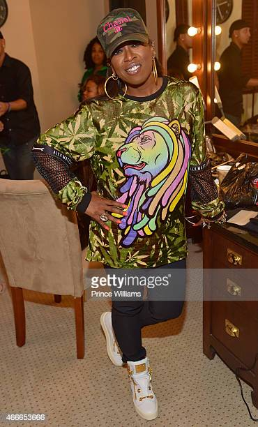Missy Elliott backstage at the K Michelle concert at Fox Theater on March 12 2015 in Atlanta Georgia