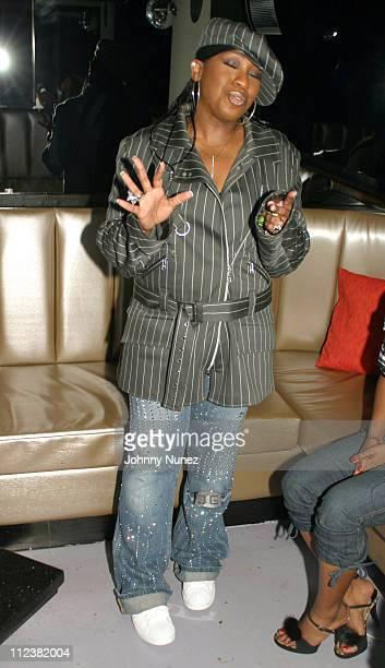 Missy Elliott during Bacardi Limon Presents Missy Elliott's Really Really Hot Party at Deep in New York City New York United States