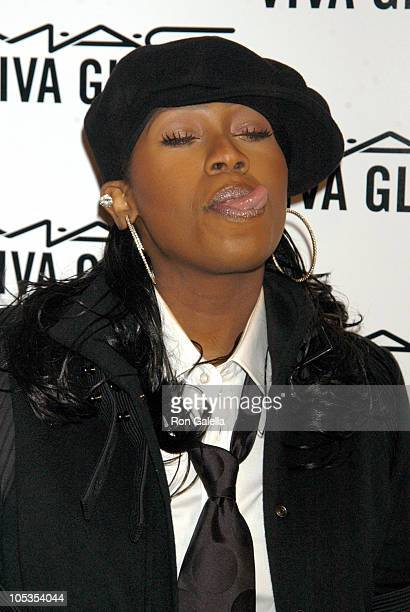 Missy Elliott during MAC AIDS Fund VIVA Glam V Launch Party at Ace Gallery in New York City New York United States