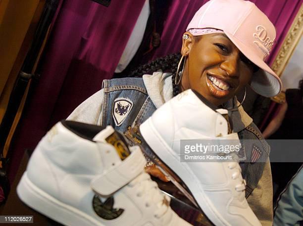 Missy Elliott during Missy Elliott Launches Adidas Sportswear Clothing Line Respect ME at Adidas SoHo Store in New York City New York United States