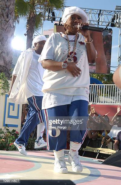 Missy Elliott during MTV's 2003 Spring Break 'Fashionably Loud' at Double Tree Surfcomber Hotel in Miami Florida United States