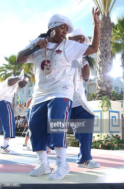 Missy Elliott during MTV's 2003 Spring Break Fashionably Loud at Double Tree Surfcomber Hotel in Miami Florida United States
