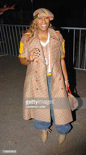 Missy Elliott during Shark Tale New York Premiere Arrivals at The Delacorte Theatre in Central Park in New York New York United States