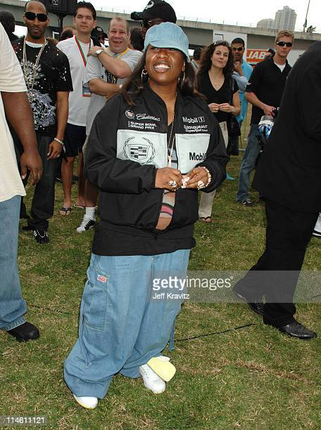 Missy Elliott during The 5th Annual Cadillac Super Bowl Grand Prix at American Airlines Arena in Miami Beach Florida United States