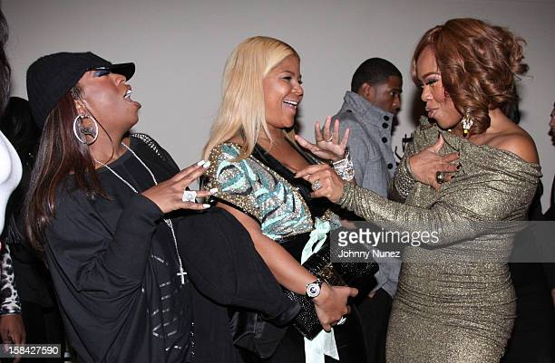 Missy Elliott Misa Hylton and Mona ScottYoung attend the Monami 2012 Holiday Celebration at The Newark Museum on December 15 2012 in Newark New Jersey