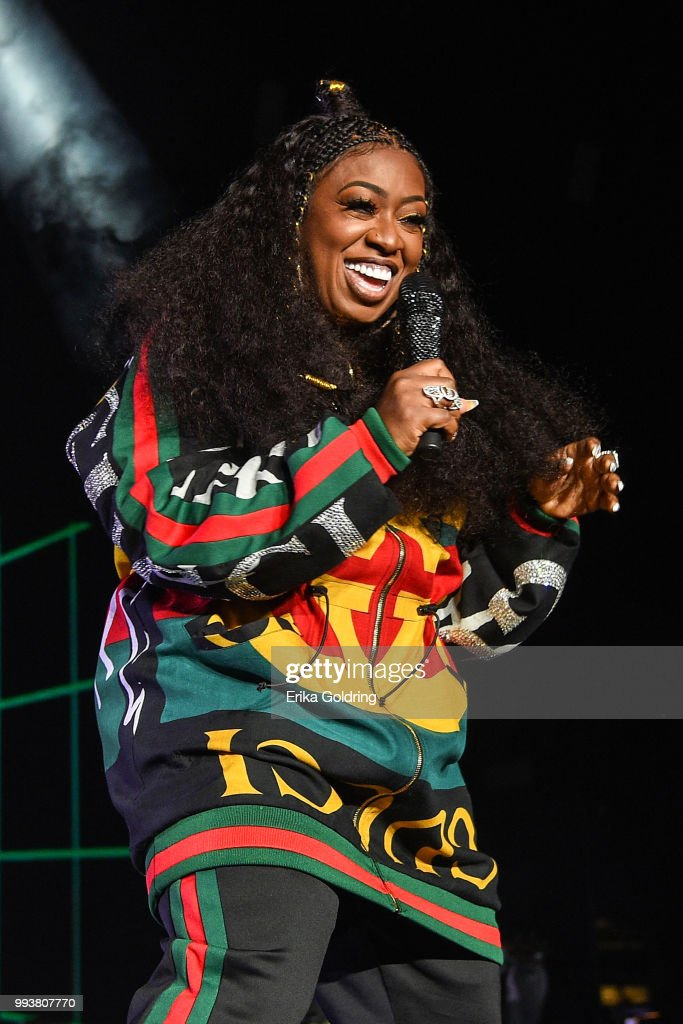 Missy Elliott performs at the 2018 Essence Music Festival at the Mercedes-Benz Superdome on July 7, 2018 in New Orleans, Louisiana.