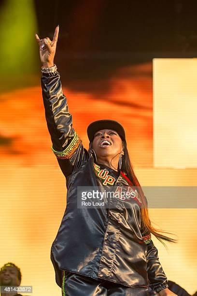 Missy Elliott performs at the Pemberton Music Festival on July 19 2015 in Pemberton Canada