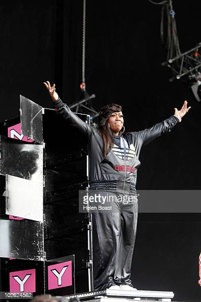 Missy Elliott performs on stage during the second day of Wireless Festival 2010 at Hyde Park on July 3 2010 in London England
