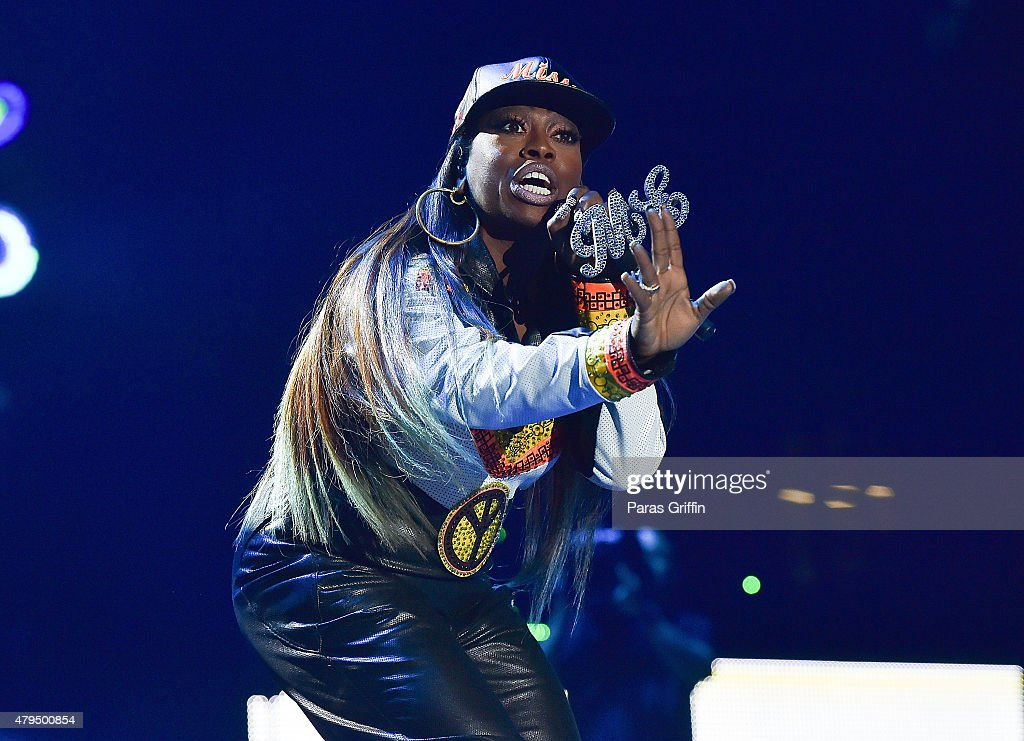 Missy Elliott performs onstage at the 2015 Essence Music Festival on July 4, 2015 at Mercedes-Benz Superdome in New Orleans, Louisiana.