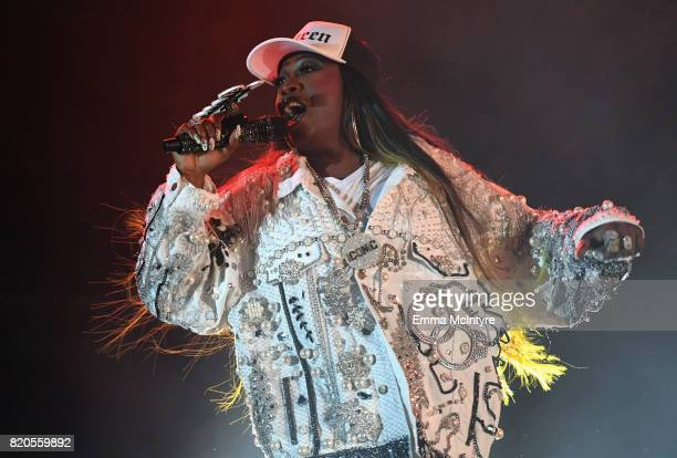 Missy Elliott performs onstage during day 1 of FYF Fest 2017 on July 21 2017 at Exposition Park in Los Angeles California