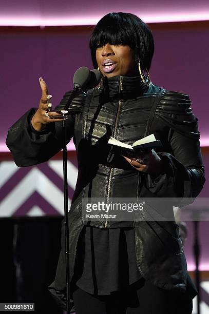 Missy Elliott speaks onstage during Billboard Women In Music 2015 on Lifetime at Cipriani 42nd Street on December 11 2015 in New York City