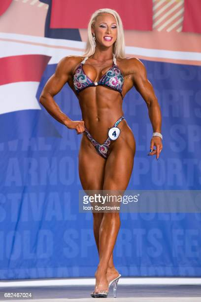 Missy Farrell competes in Fitness International as part of the Arnold Sports Festival on March 3 at the Greater Columbus Convention Center in...