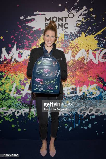 Missy Franklin attends Montblanc X Laureus Sport For Good photocall at Hotel Hermitage during 2019 Laureus World Sports Awards on February 17 2019 in...