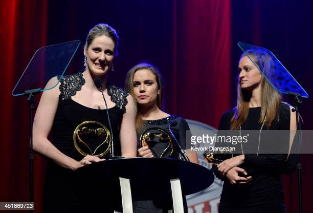 Missy Franklin Natalie Coughlin Megan Roman and and Shannon Vreeland receive Relay Performance of the Year award during10th Annual USA Swimming...