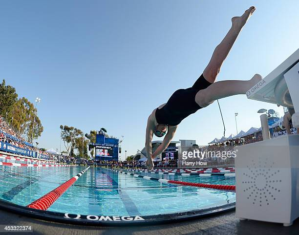 Missy Franklin starts in the Women's 200 Meter Freestyle Final during the 2014 Phillips 66 National Championships at the Woollett Aquatic Center on...