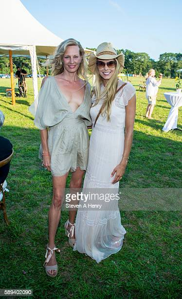Missy Hargraves and Beth Ostrosky Stern attend the 10th Annual Get Wild Summer Benefit on August 13 2016 in Bridgehampton New York