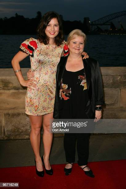 Missy Higgins and Magda Szubanski attend the opening night of the St George OpenAir Cinema and Sydney premiere of Bran Nue Dae at Mrs Macquaries...
