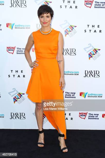 Missy Higgins arrives at the 27th Annual ARIA Awards 2013 at the Star on December 1 2013 in Sydney Australia