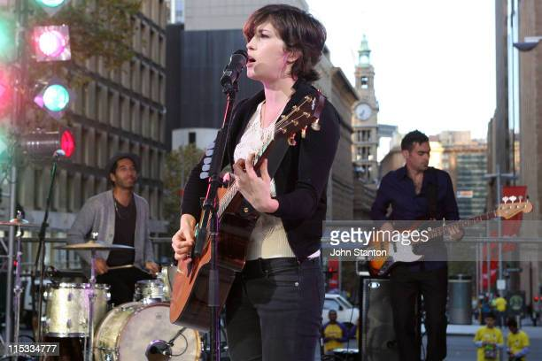 Missy Higgins during Missy Higgins Performs on 'Sunrise' May 4 2007 at Martin Place in Sydney NSW Australia