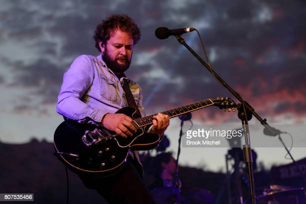 Missy Higgin's guitarist Matt Green at the Birdsville Big Red Bash 2017 on July 4 2017 in Birdsville Australia
