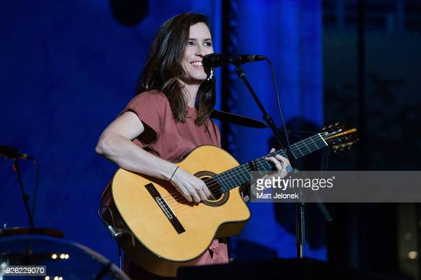 Missy Higgins performs in concert on the opening night Ed Sheeran's Australian tour at Optus Stadium on March 2 2018 in Perth Australia