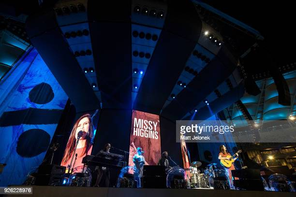 Missy Higgins performs in concert on the opening night of Ed Sheeran's Australian tour at Optus Stadium on March 2 2018 in Perth Australia