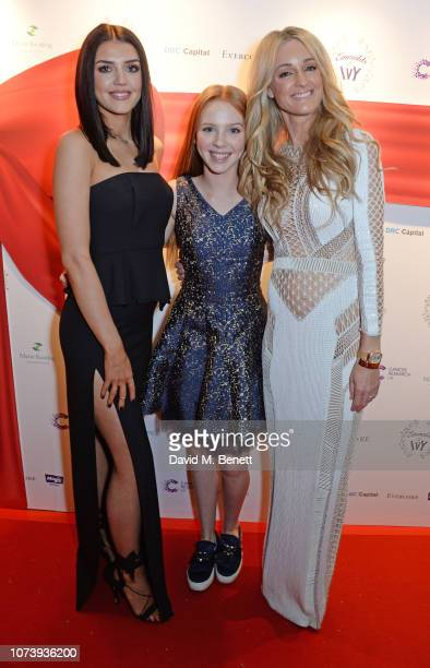 Missy Keating Ally Keating and Storm Keating attend the 12th annual Emeralds Ivy Ball in aid of Cancer Research UK and The Marie Keating Foundation...