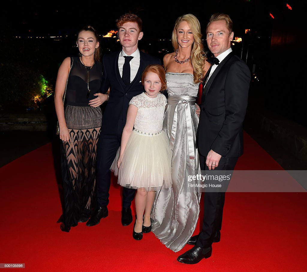 Missy Keating, Jack Keating, Ali Keating, Storm Keating and Ronan Keating attend the Emeralds & Ivy Ball in aid of Cancer Research UK and the Marie Keating Foundation at Embankment Gardens on December 5, 2015 in London, England.