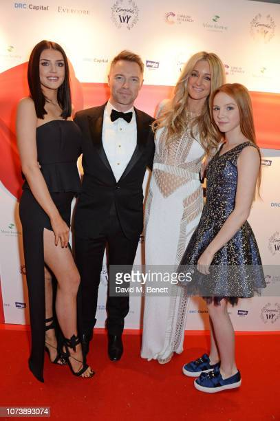 Missy Keating Ronan Keating Storm Keating and Ally Keating attend the 12th annual Emeralds Ivy Ball in aid of Cancer Research UK and The Marie...