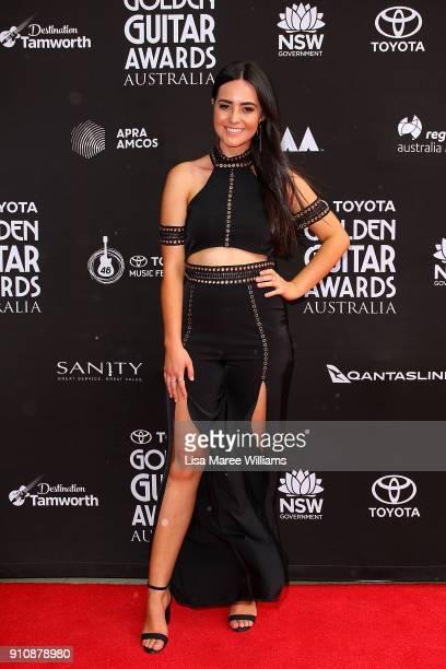 Missy Lancaster arrives at the 2018 Toyota Golden Guitar Awards on January 27 2018 in Tamworth Australia