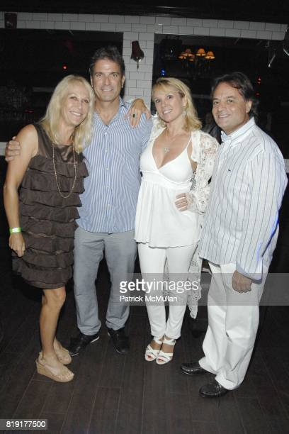 Missy Lubliner Mario Singer Ramona Singer and Jerry Lubliner attend Nic Roldan Shamin Abas and Tracy Mourning Host Hamptons Social Series Dinner For...