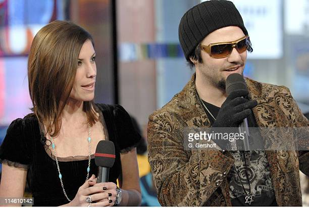 Missy Margera and Bam Margera during Bam Margera and His Fiance Missy Visit MTV's TRL January 29 2007 at MTV Studios in New York City New York United...