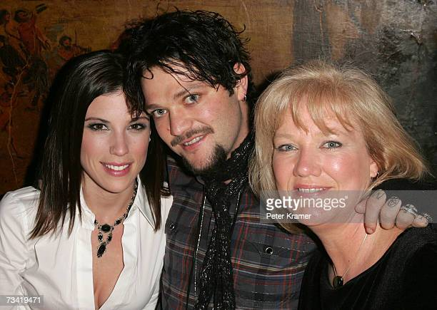 Missy Margera Bam Margera and April Margera attend the Entertainment Weekly Academy Awards viewing party at Elaine's on February 25 2007 in New York...