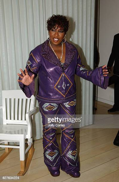 Missy Misdemeanor Elliott arrives at the Warner Music Group and Entertainment Weekly postGrammy party