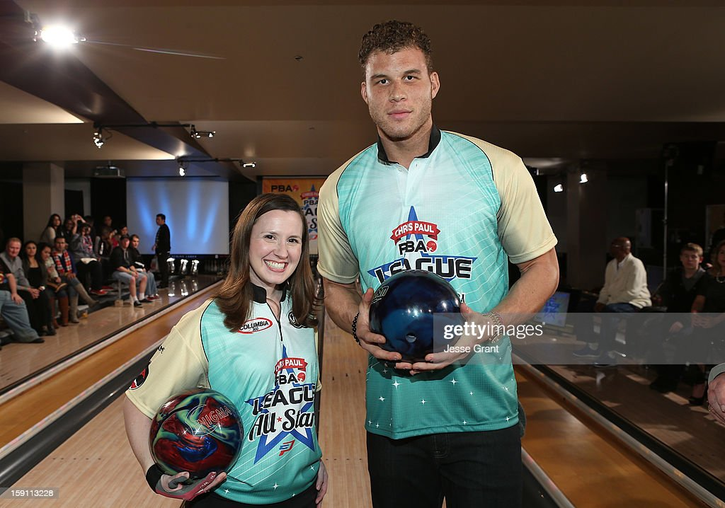 Missy Parkin and Blake Griffin attend the 2013 Chris Paul PBA League All-Stars Invitational Bowling Tournament at Lucky Strike Lanes at L.A. Live on January 7, 2013 in Los Angeles, California.