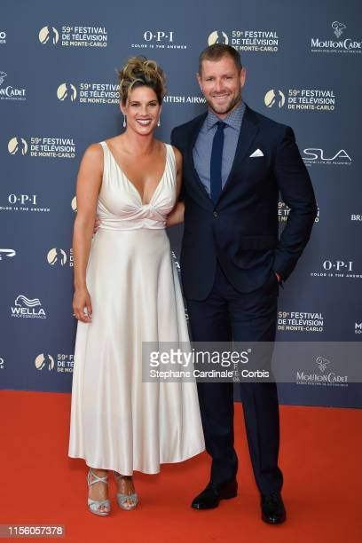 Missy Peregrym and Tom Oakley attend the opening ceremony of the 59th Monte Carlo TV Festival on June 14 2019 in MonteCarlo Monaco