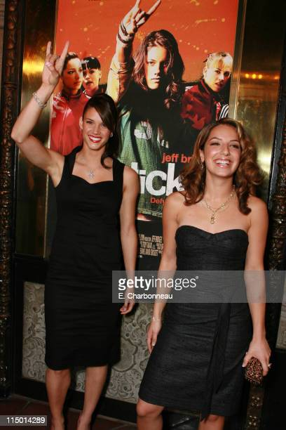 Missy Peregrym and Vanessa Lengies during Special Screening of Touchstone Pictures' 'Stick It' at El Capitan in Hollywood California United States