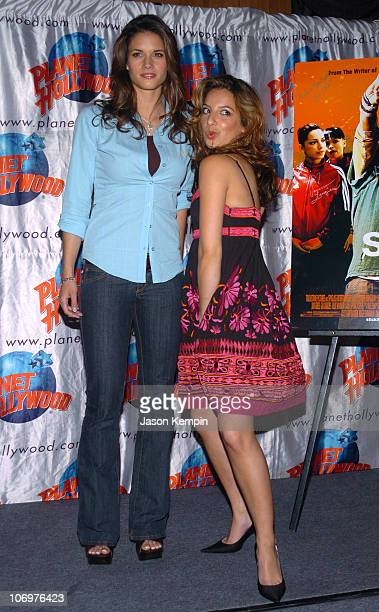 Missy Peregrym and Vanessa Lengies during 'Stick It' Stars Missy Peregrym and Vanessa Lengies Visit Planet Hollywood in New York City April 20 2006...