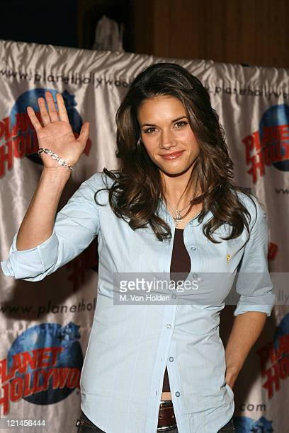 Missy Peregrym during 'Stick It' Planet Hollywood Memorabilia Donation at Planet Hollywood Times Square in New York NY United States