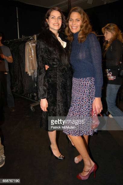 Missy Rayder and Frankie Rayder attend Marc Jacobs Fall 2004 Collection Show at The New York State Armory on February 9 2004 in New York City